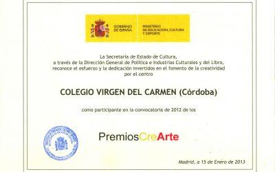 Premios CreArte y Sello Escuela Amiga de Educación sin Fronteras