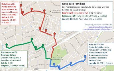 Charla informativa sobre Rutas Escolares (Proyecto APPEDIBUS) – Próximo miércoles 22 de abril a las 17.00h – Salón de Actos – Colegio Virgen del Carmen